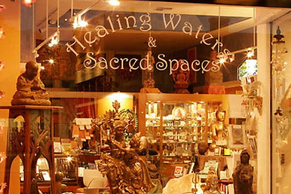 Healing Waters & Sacred Spaces Store Window