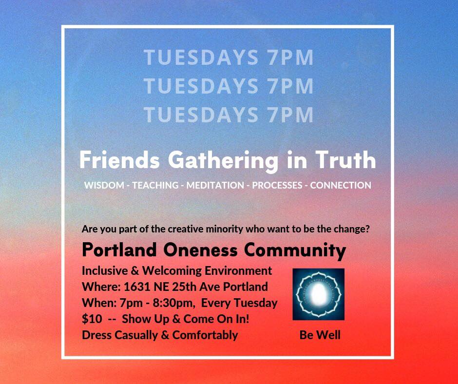 Tuesday Night Oneness Circle @ The Event Space @ Healing Waters & Sacred Spaces | Portland | Oregon | United States